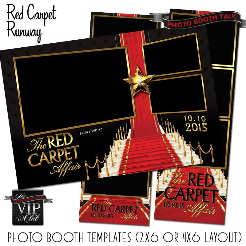 Red Carpet Photo Booth Templates