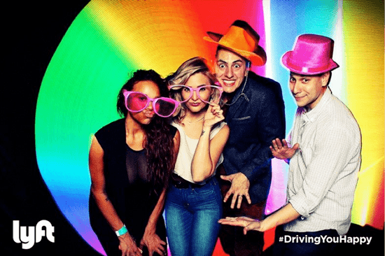 Lyft Glow Party Light Painting with Photo Booth Upload