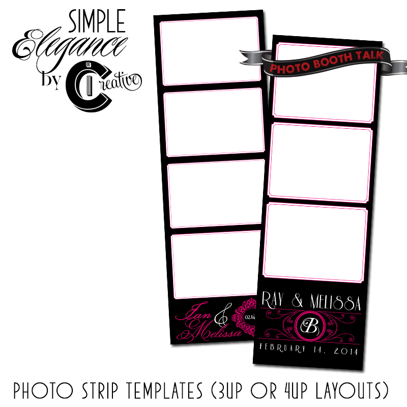 Simple Elegance 2×6 Photo Booth Templates | Photo Booth Talk