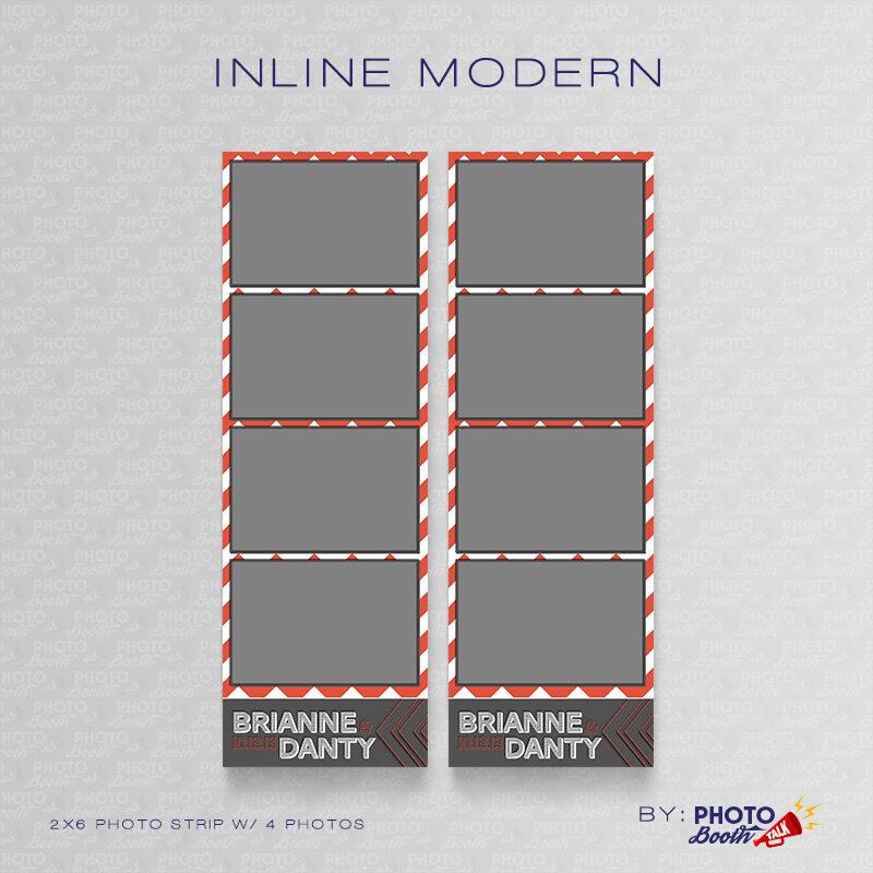 Modern Chevron themed 2x6 Photo Strip Templates for Photo Booths