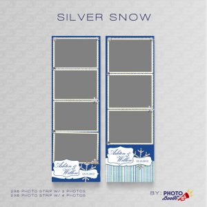 Winter themed 2x6 Photo Strip Templates for Photo Booths