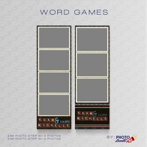 Scrabble themed 2x6 Photo Strip Templates for Photo Booths