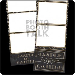 Art Deco Gatsby 2x6 Photo Booth Templates