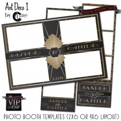 Art Deco Gatsby Photo Booth Template Set