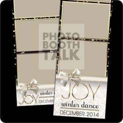 Black, gold and white sparkle themed 2x6 photo booth templates