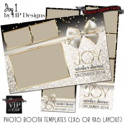 Black, gold and white sparkle themed photo booth templates