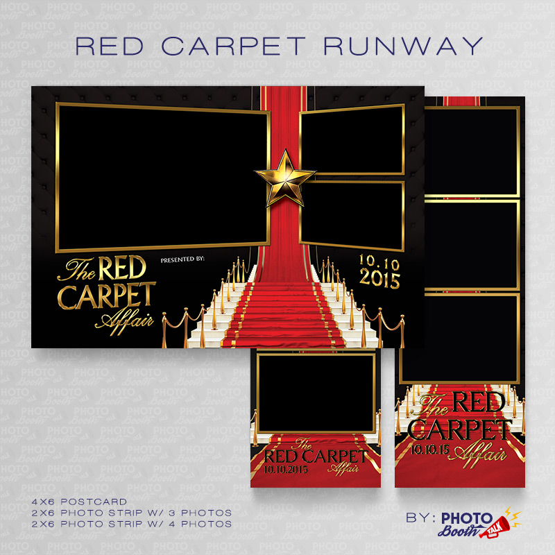 Red Carpet Runway – Photoshop PSD Files | Photo Booth Talk