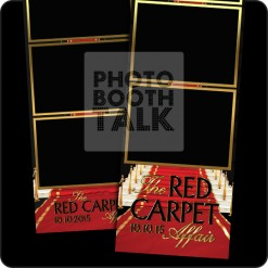 Hollywood Premier Red Carpet themed 2x6 photo booth templates