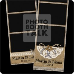 rustic wood, burlap and lace photo booth templates