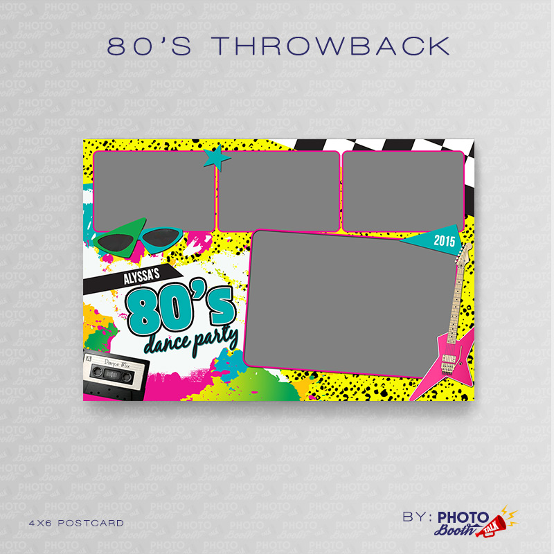 80\'s Throwback – Neon Dance Party – Photoshop PSD Files | Photo ...