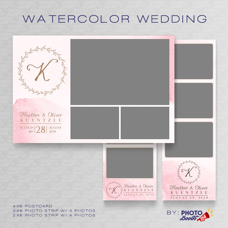 Watercolor Wedding - Photoshop PSD Files
