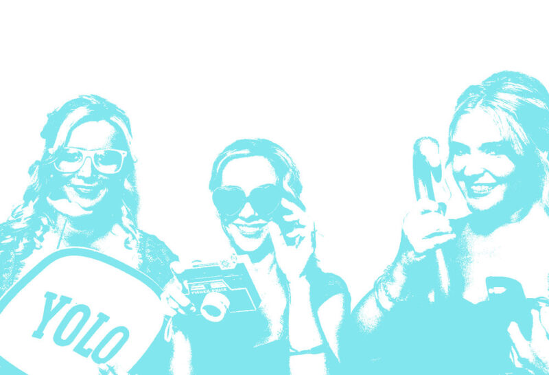 Pop Colored Filters for Photo Booths