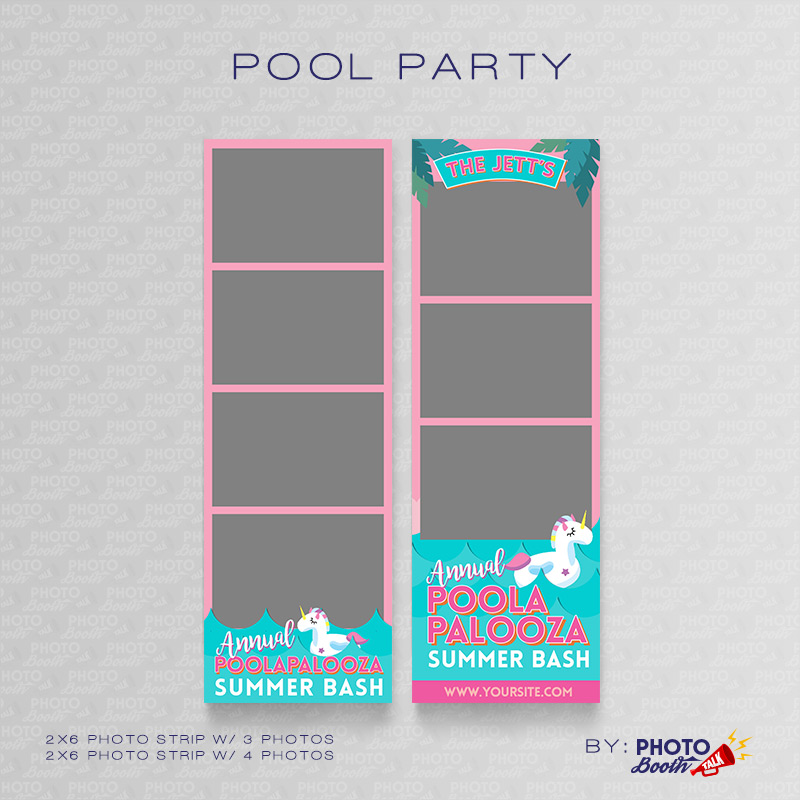 Pool Party 2 – Photoshop PSD Files | Photo Booth Talk