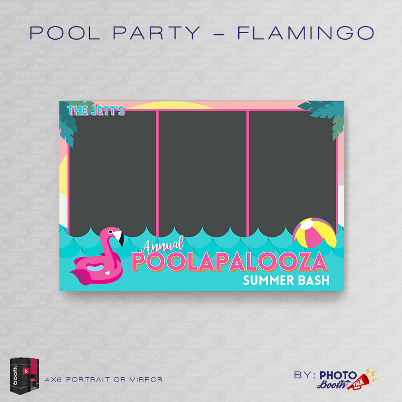 pool party flamingo portrait mirror for darkroom booth photo