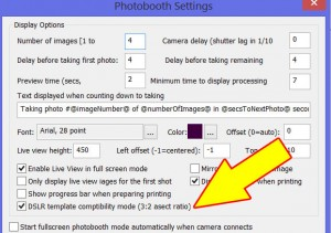 How you set software to crop point and shoot images to the same aspect ratio as DSLRs